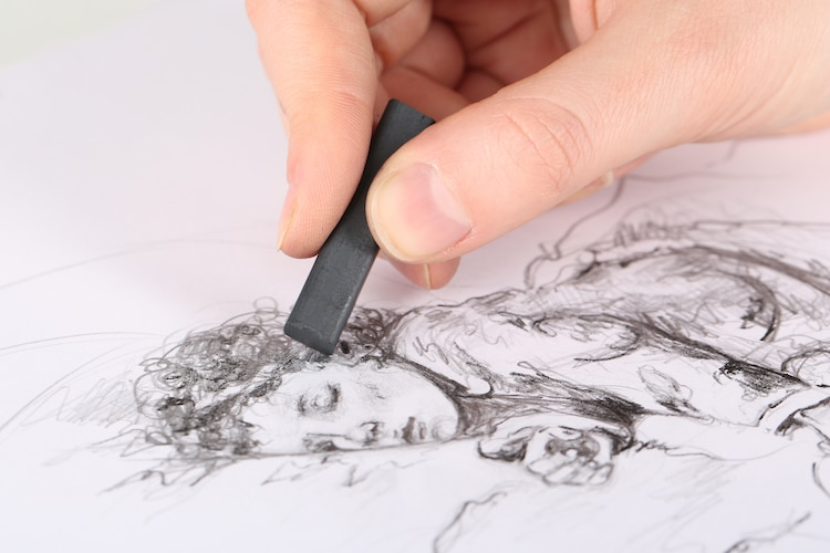 SUMMER WEEK 6 - Aug 6th - Aug 9th - Charcoal & Graphite Techniques.  AGES 5-8, 9-12.  Whether you're a beginner or more advanced, a painter, drawer or sculptor, the techniques of using charcoal & graphite are always essential to any art practice.