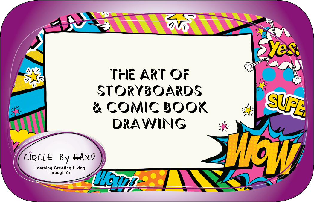 """SUMMER WEEK 7 - Aug 12th - Aug 16th - The Art of Storyboards & Comic Book Drawing.  AGES 9-12.  Whether your child is a beginner or more advanced with developing & drawing comic book characters, scenes and storyboards, this class will give your child the chance to """"bring to life"""" their creative imaginations, fantastical adventures & whimsical wit!"""