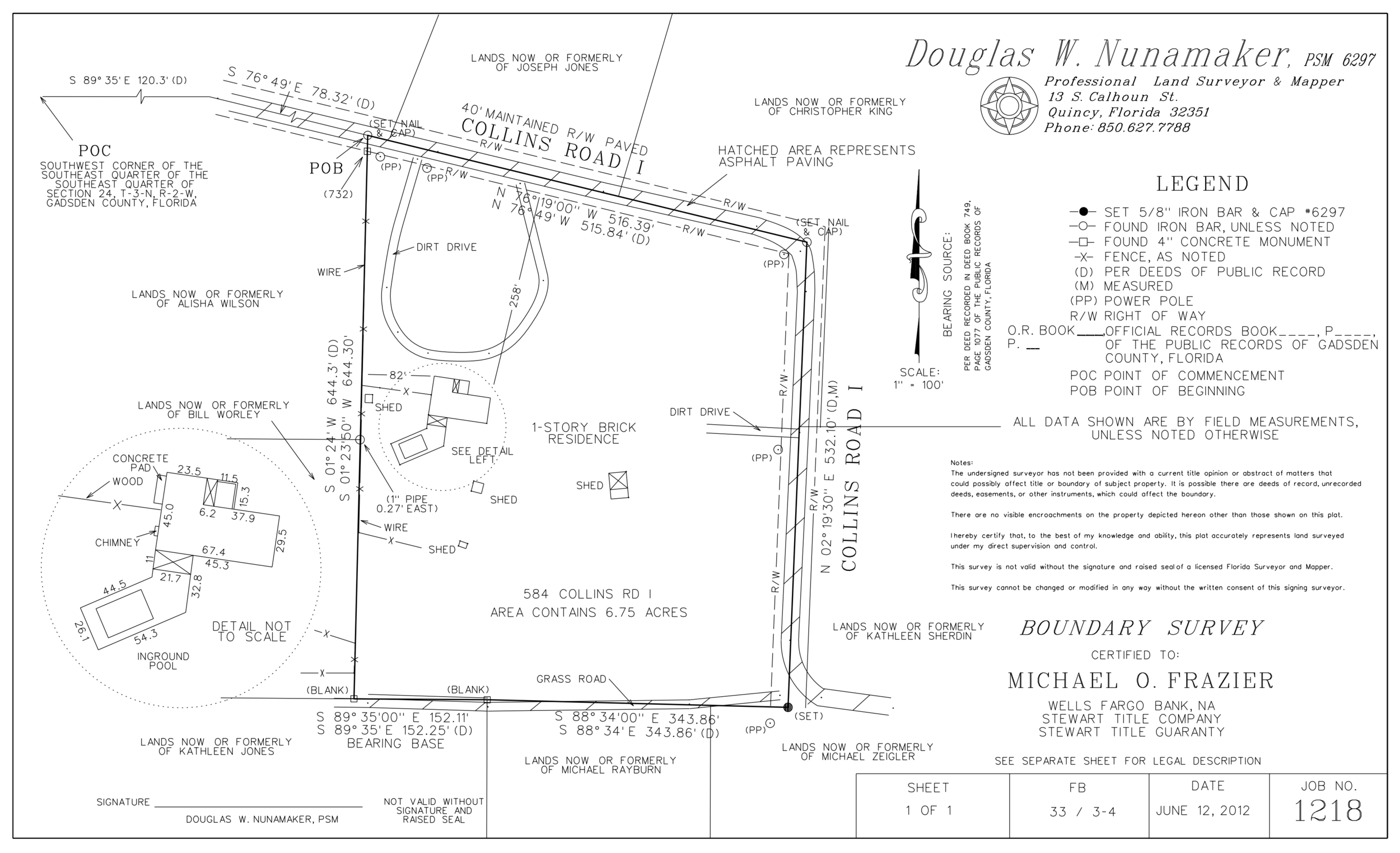Boundary (Center Line of Road) Survey