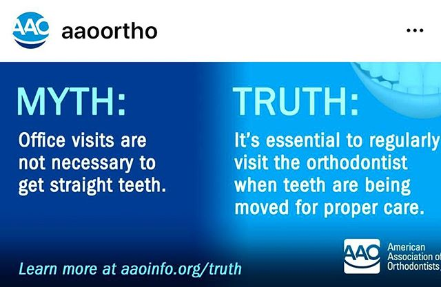 It's essential to regularly visit the orthodontist when teeth are being moved for proper care✨
