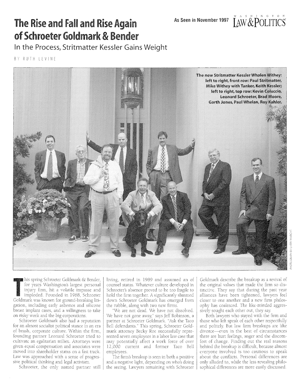 Read an article on the roots and evolution of our law firm -