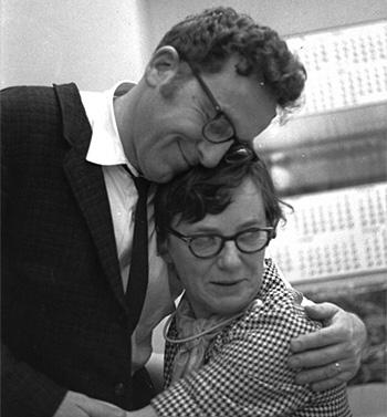 Leonard Schroeter with paralegal, Alice Ballmer.