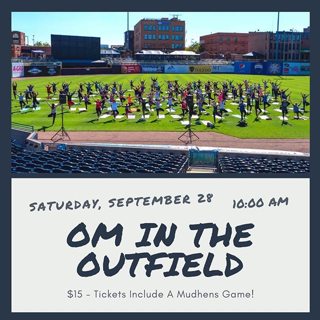 Have you purchased your Om In The Outfield ticket yet? • September 28 is right around the corner and  you don't want to miss out on this awesome practice, right in Fifth Third Field. Arrive early to get your mat in place and mingle with fellow yogis. The OM will start at 11:00 am. Tickets are available at http://HenvsilleToledo.com and this event includes a Mudhens Game Ticket as well! ∙ We are located in the heart of Downtown Toledo on the edge of the Warehouse District and hold classes 7 days a week, so you're sure to find something to fit into your day! Visit our website (ToledoAsanaRoom.com) to view our schedule and sign up OR download the free Vagaro app. ∙  #ashtanga #yoga #ashtangayoga #namasteintoledo #Toledo #toledoohio #youwilldobetterintoledo