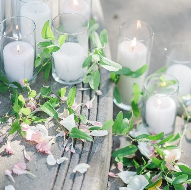 Flowers and candles follow us wherever we go! We can't get enough of them and you can never have too many!⁠ ⁠ If you want to keep it simple for the ceremony, line your aisles and the base of your altar with a sea of candles, flower petals, and greenery. It's so simple, classy, and cost effective as well!⁠ ⁠ ⁠ ----⁠ ⁠ Design & Coordination: @lovinglyyoursweddings⁠ Hair & Make Up: @beautyinmotionstudio⁠ Florist: @bloomtheorydesign⁠ Photography: @donnalamphotography⁠ Venue: @coyotehillsgcevents⁠ DJ/Lighting: @feelgoodgreen⁠ Cake: @greatdanebakingco⁠ Boba: @drinktastea⁠ Photobooth: @photoboothmillionaire⁠ .⁠ .⁠ .⁠ .⁠ .⁠ ⁠ ⁠#lovinglyyoursweddings #fineartweddings #romanticwedding #gardenwedding #californiawedding #weddinginspiration #weddinginspo #weddingseason #weddingideas #weddingplanner #weddingdesigner #loveintentionally #eventdesign #designisinthedetails #livebeautifully #darlingweekend #weddingdetails #floralinspiration #floralinspo #bride #instawedding #weddingstyle #flowers #ocweddingplanner #laweddingplanner #sdweddingplanner⁠ ⁠