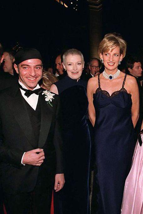 Princess Diana with John Galliano at the Met Gala