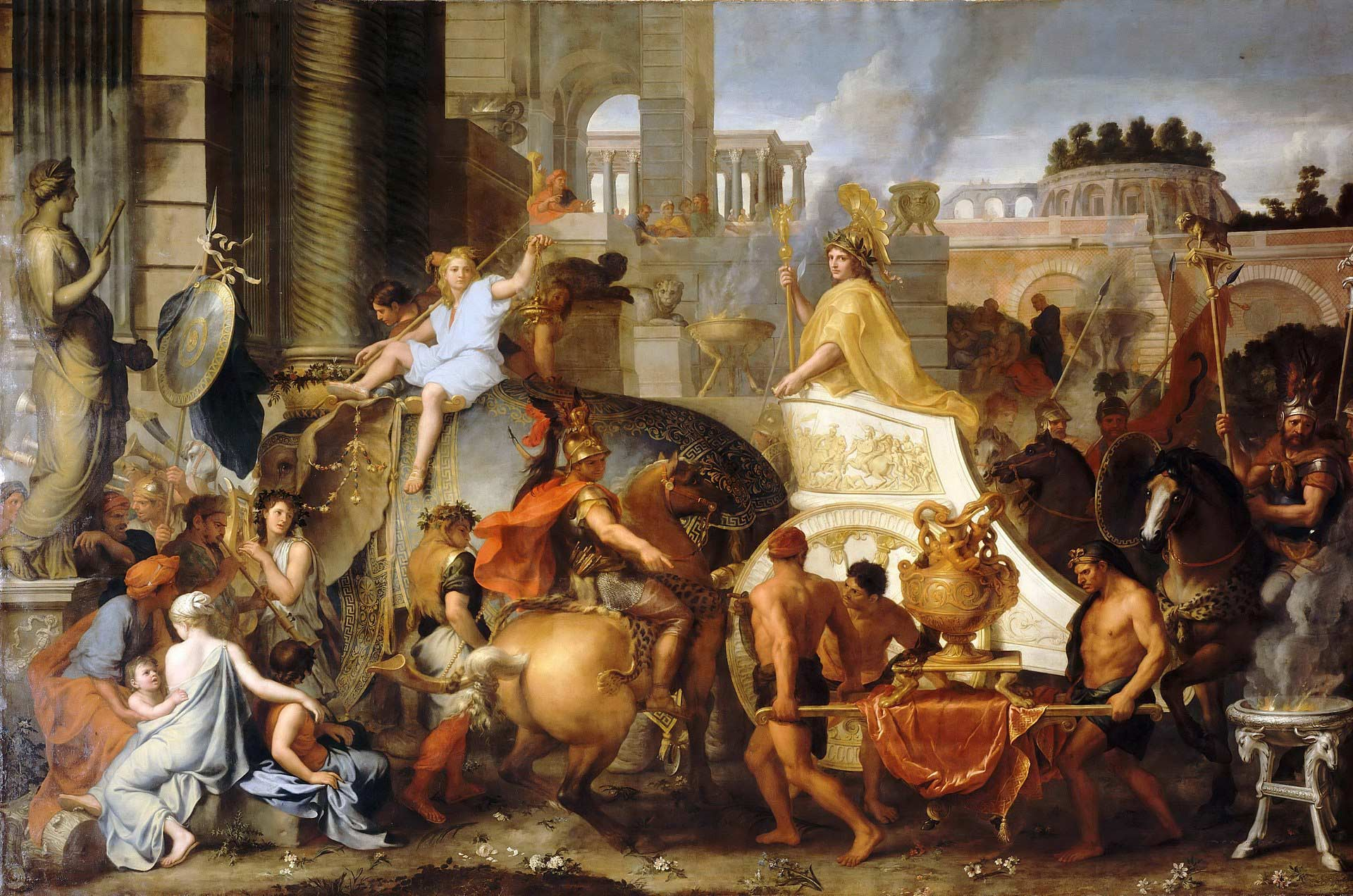 1665 Painting by Charles LeBrun