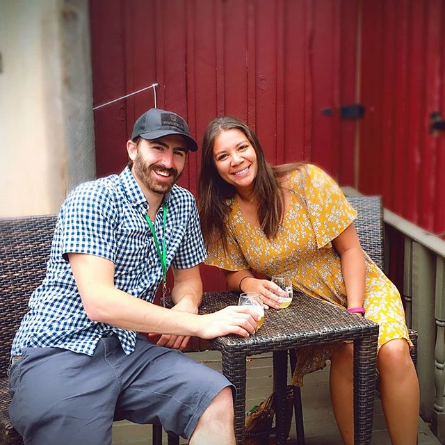 A tasting tour for two! Joel and Jenna at @foleybrothers #tastingtours #tastevermont #craftbrewery #craftbeer #Vermont #vermonttourism #saturdayafternoon #bestofvermont
