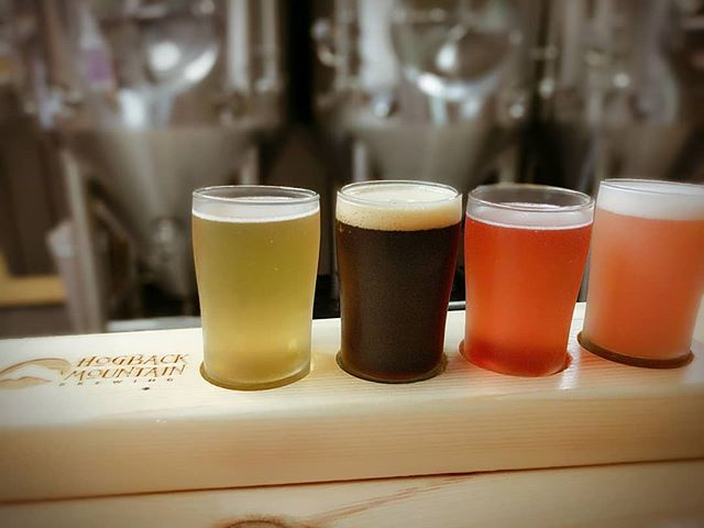 Now that's a flight of fancy! Excited to be adding @hogbackbrew to our venue options on our Middlebury & More and custom tasting tours. 🍺 #craftbrewery #localsourced #tastingroom #tastingtours  #Vermont  #vermonttourism #tastevermont #beertour #beertasting