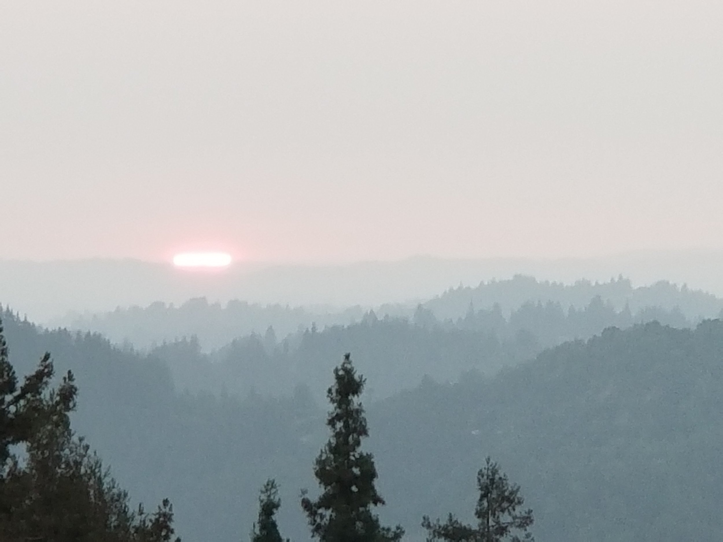 Smokey haze from Mendacino fires hundreds of miles North of us. We are very conscious of fire safety at Cliff House.