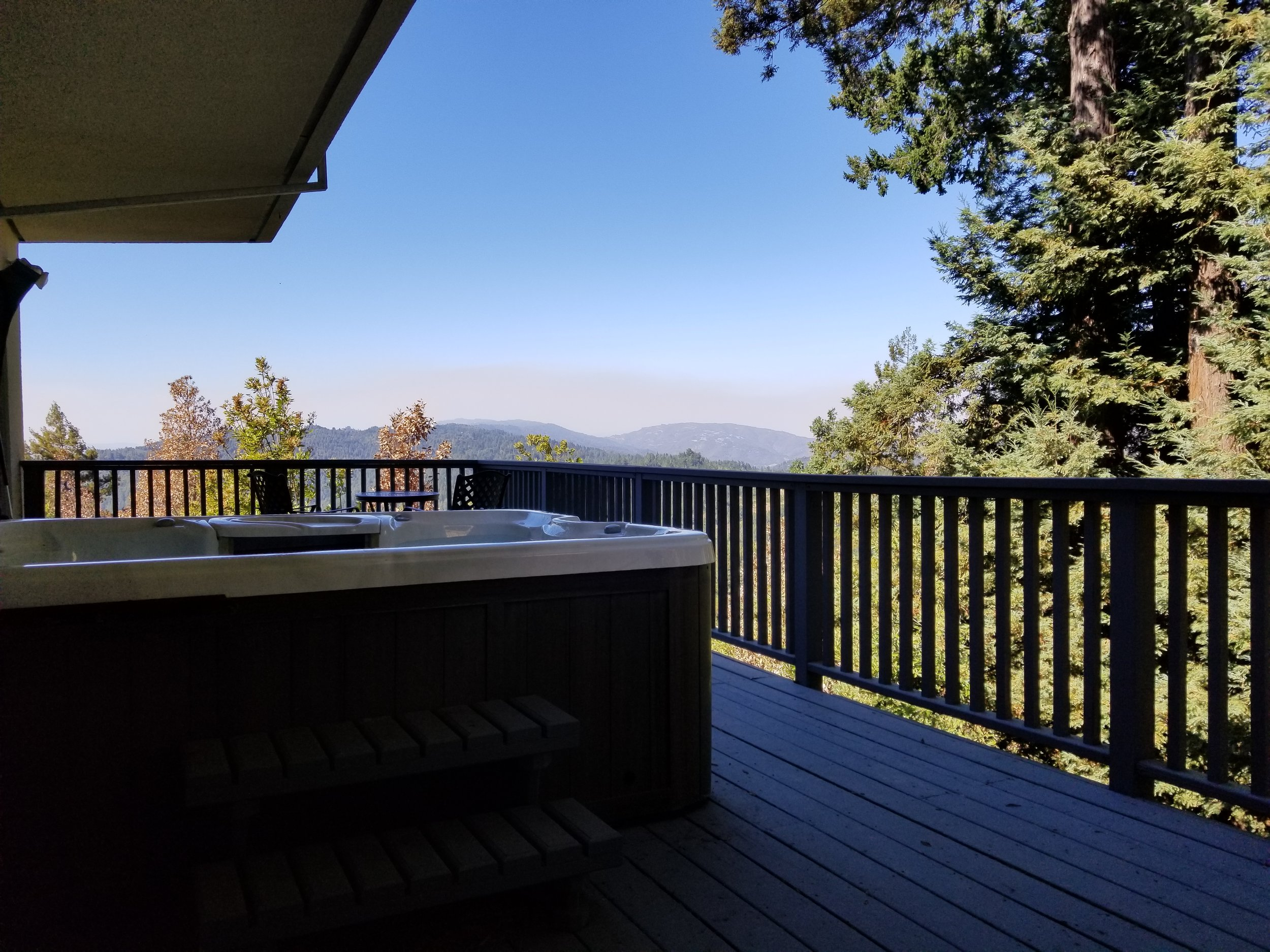 Private guest hot tub and deck.