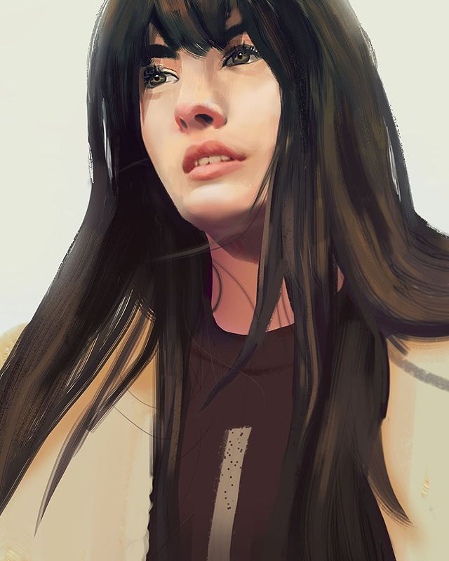 Photo study portrait. Working on hard and soft rendering.