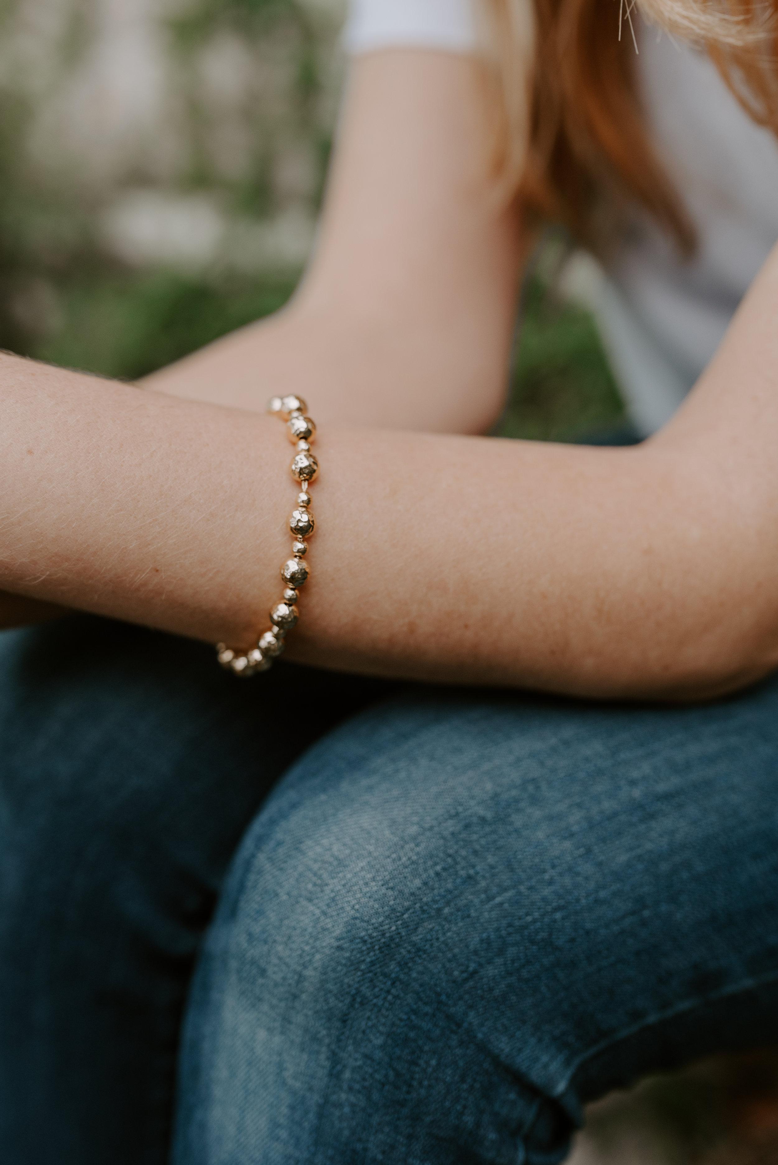 Byzantine Bead Bracelet  (18K gold-plated)