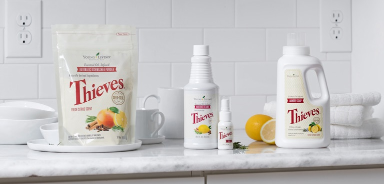 Young Living Thieves Essential Oil Cleaning Products