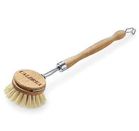 Wooden Dishwashing Brush: Caldrea