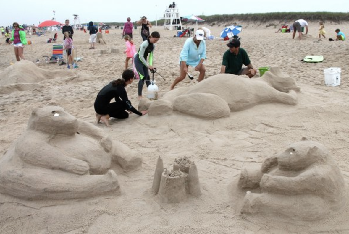 Annual East Hampton Sandcastle Contest   At the 22nd annual East Hampton Sandcastle Contest, 42 groups worked furiously to create the most awe-inspiring or humorous sand sculptures, hoping to win first place in each of their categories. Despite a drizzly day at the beach, sand sculptors raised $2,300 for the Clamshell Foundation, which sponsors the contest.   Check the SHKids Calendar for Event dates.    https://www.facebook.com/events/the-clamshell-foundation/22nd-annual-east-hampton-sandcastle-contest/197280007098089/