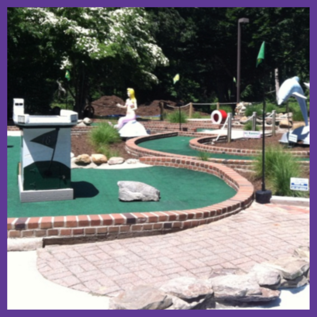 Shelter Island Whales Tale   This Shelter Island spot offers mini golf, food and drink, ice cream and an outdoor terrace to kick back and relax.    Learn More
