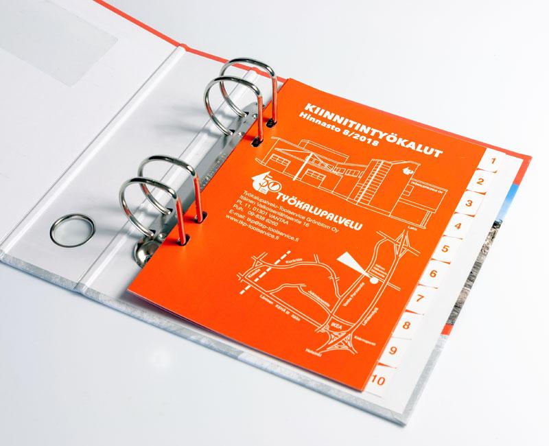 Skillekort i plast med silketrykk
