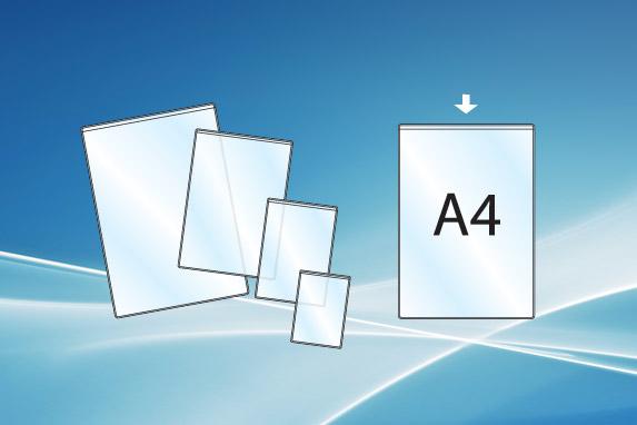 Plasthylse A4 åpen topp