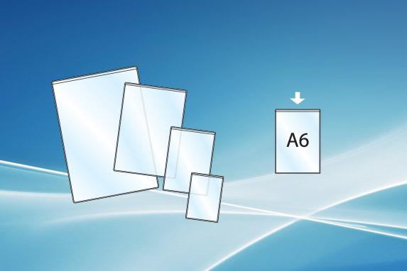 Plasthylse A6 åpen topp