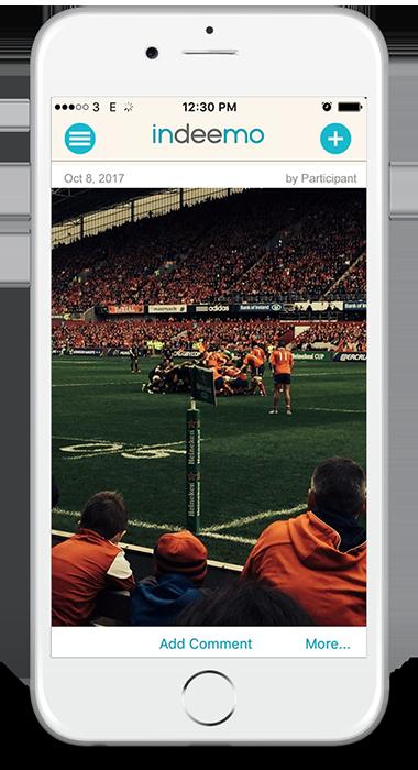 Iphone Indeemo App case study sport