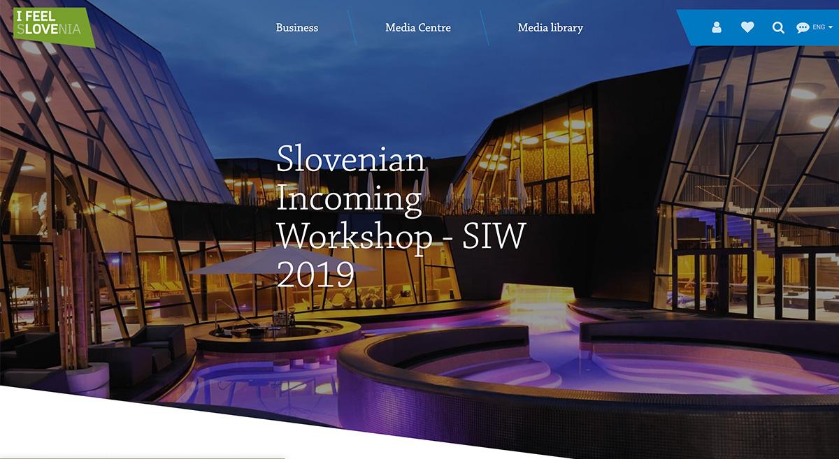 Spletna stran Slovenian Incoming Workshop 2019