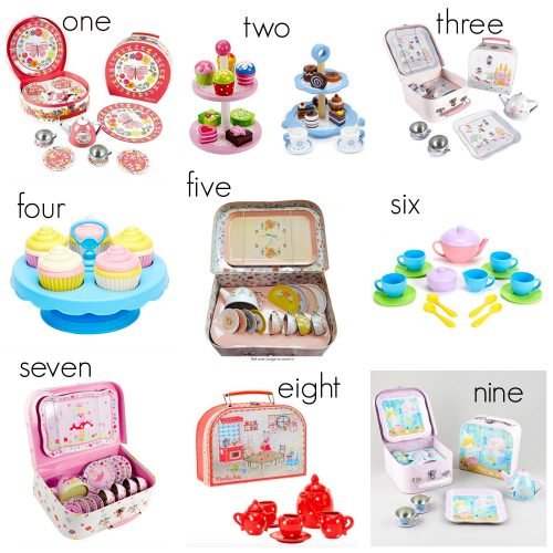 Toy Tea Sets - In honor of my daughter turning 3 today I am sharing a few darling tea sets