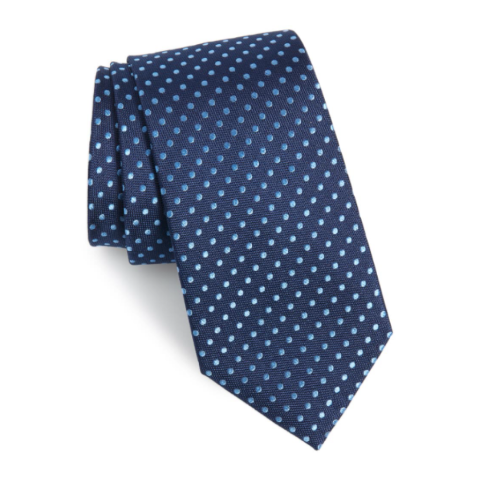Dot Silk Tie - Would Father's Day really be Father's Day without gifting a tie? Spruce up his suit with this silk tie.