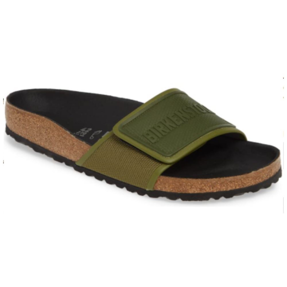 Birkenstock Slides - A contoured cork footbed and microfiber lining ensure supportive comfort with versatile appeal.