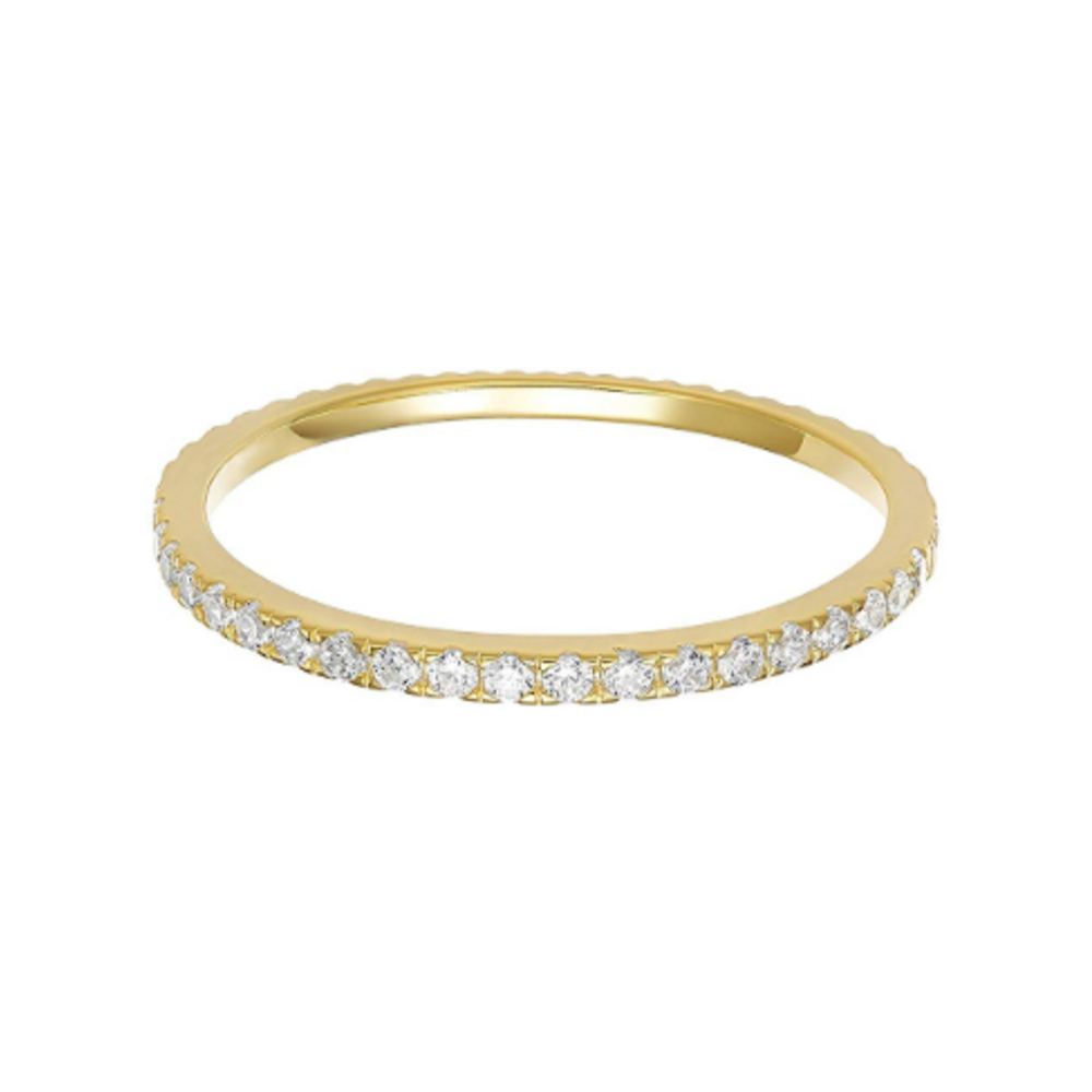 Stackable Band - Need a substitute for your real diamonds? We love these stackable bands. For bigger bling we also shared this option.