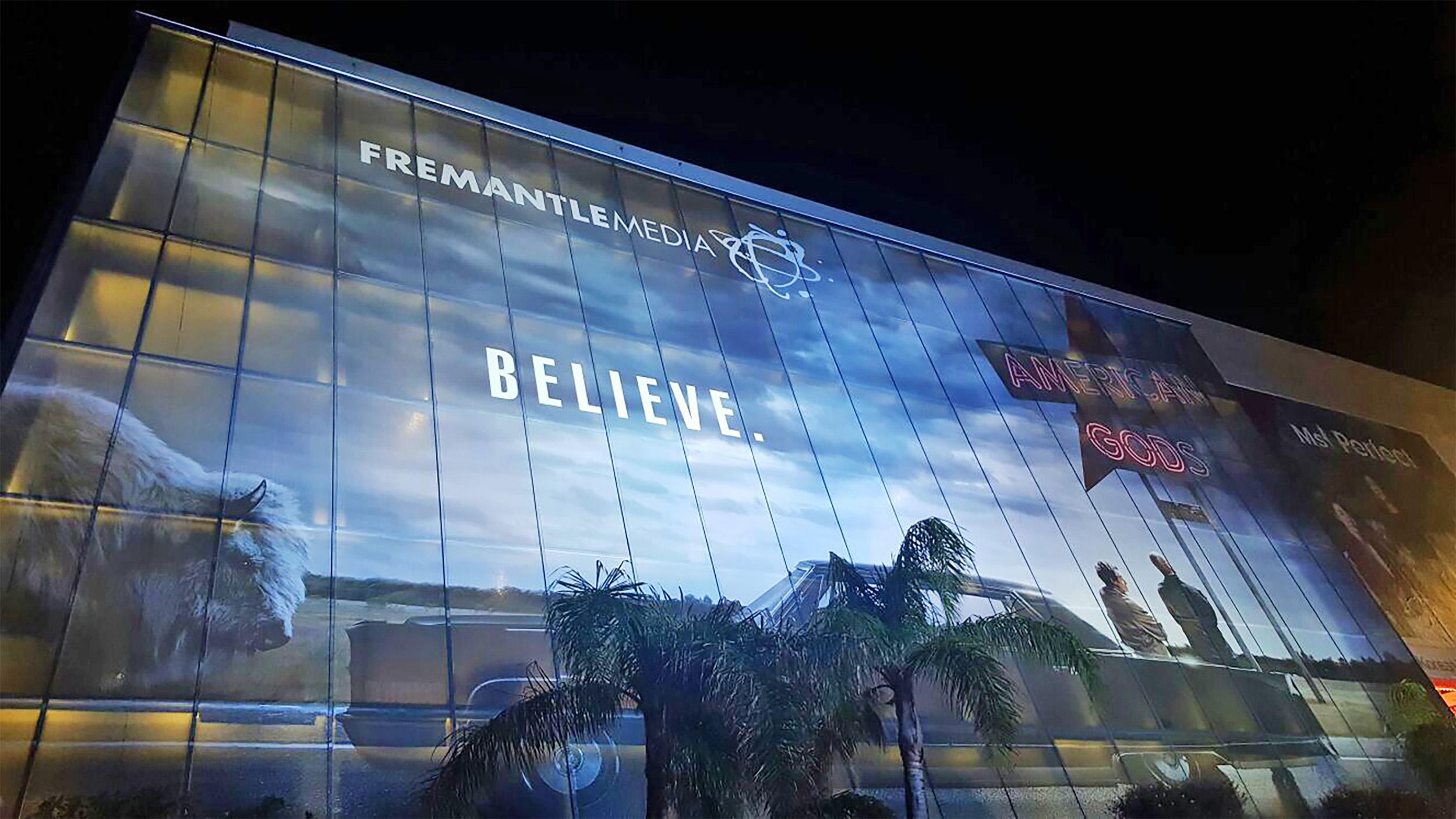 American Gods billboard ad at Cannes