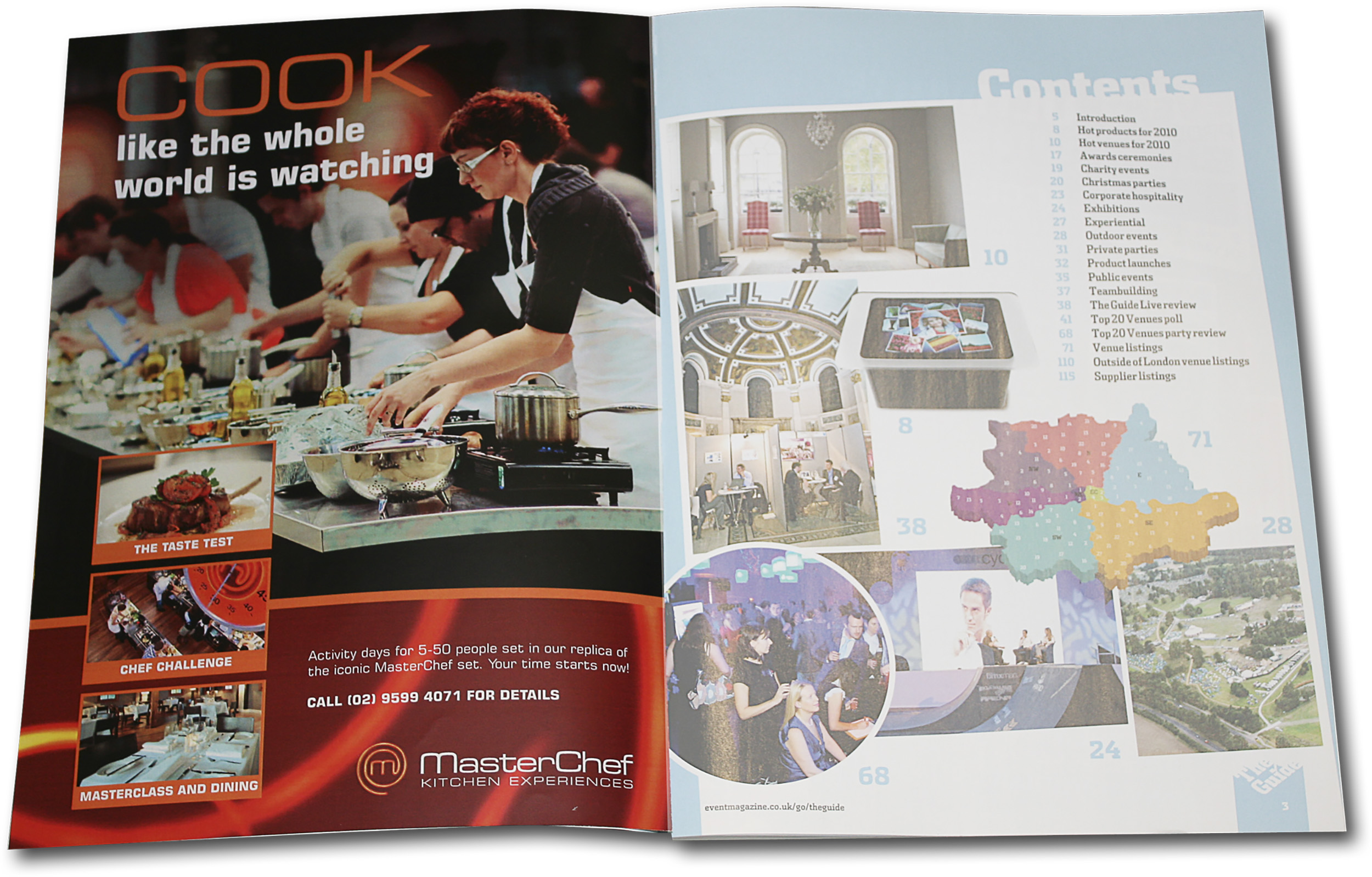 MasterChef Australia cooking classes advertising concept