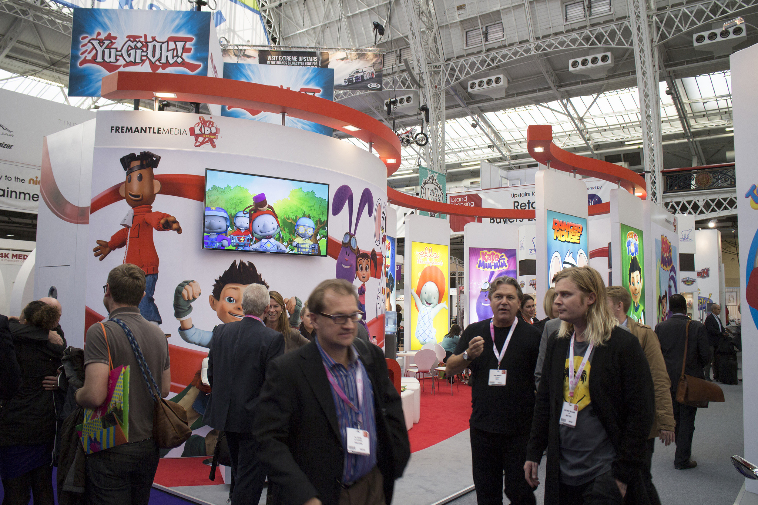 Brand Licensing Europe trade show stand graphics