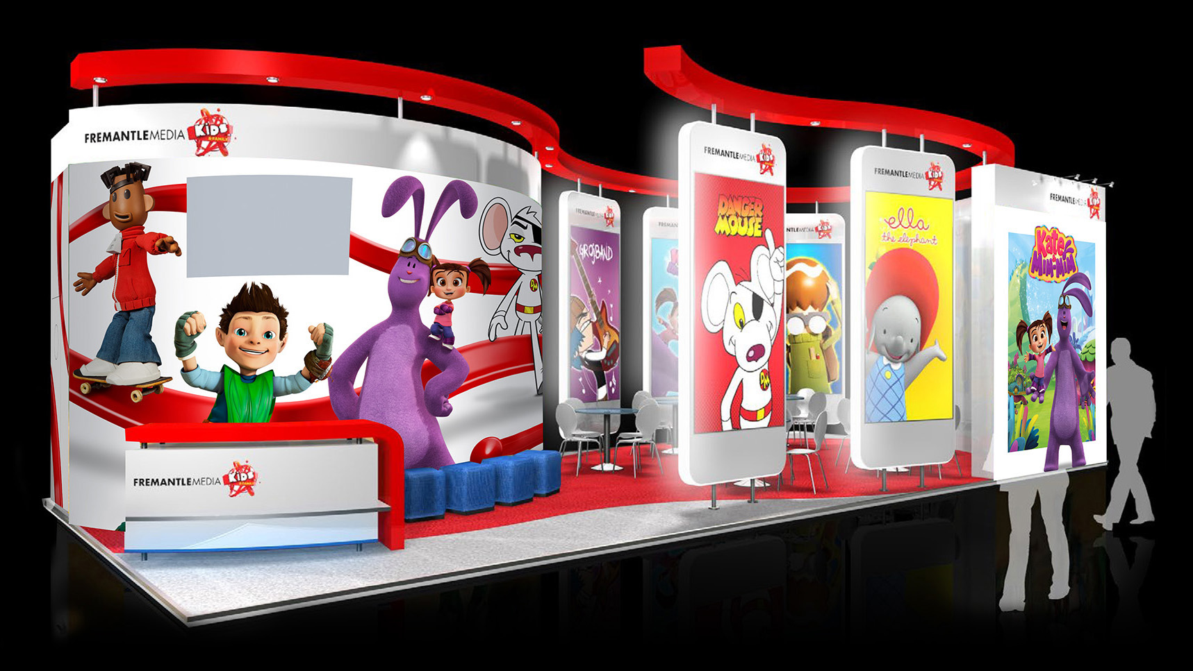 Kids & Family exhibition stand graphics