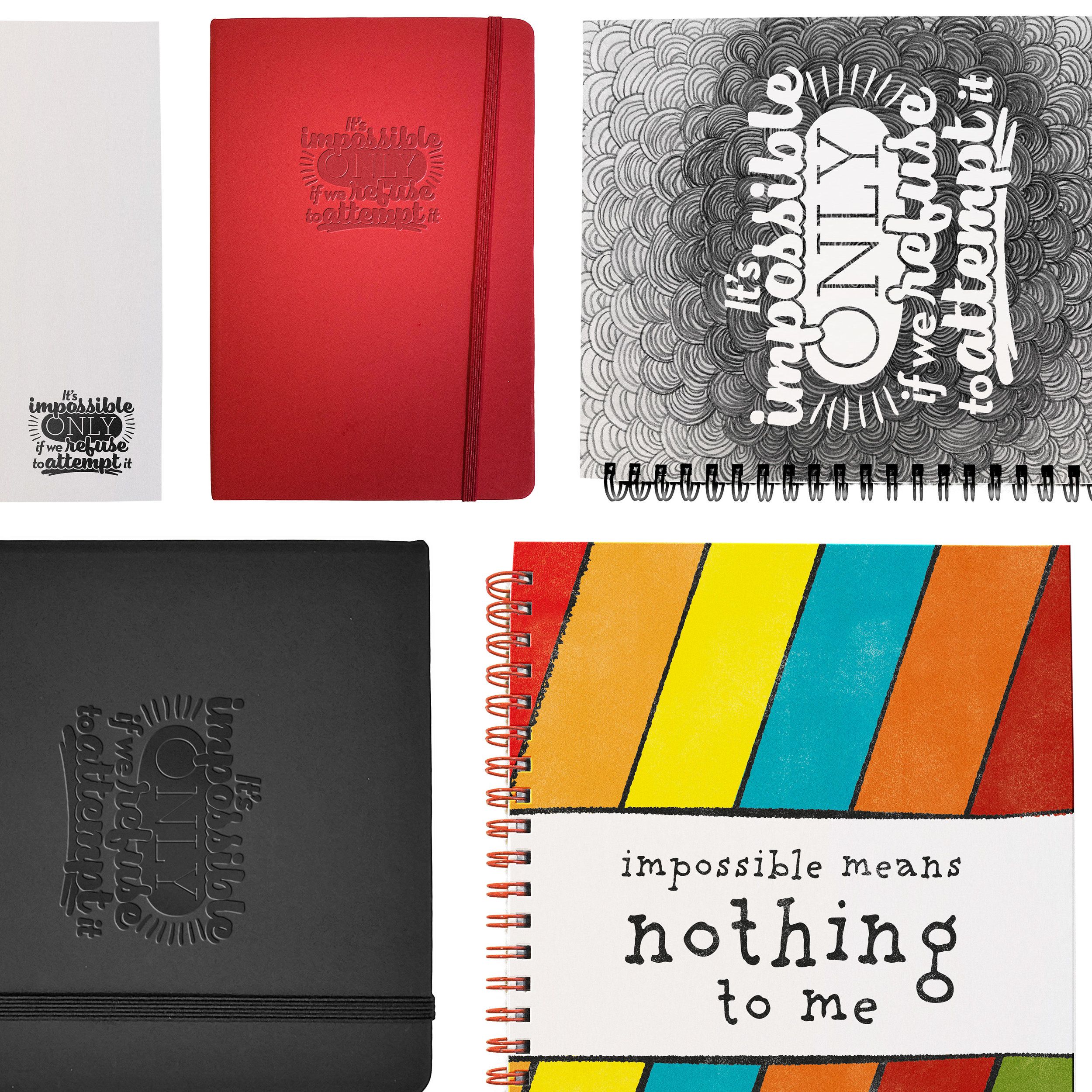 Save the Children Good Goods notebook designs by Steve McInerny