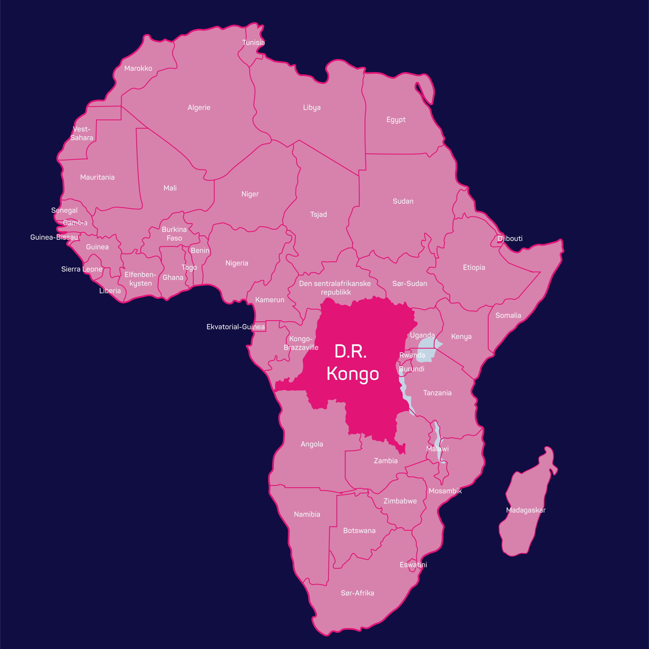 Vierbuddies - Kart Afrika