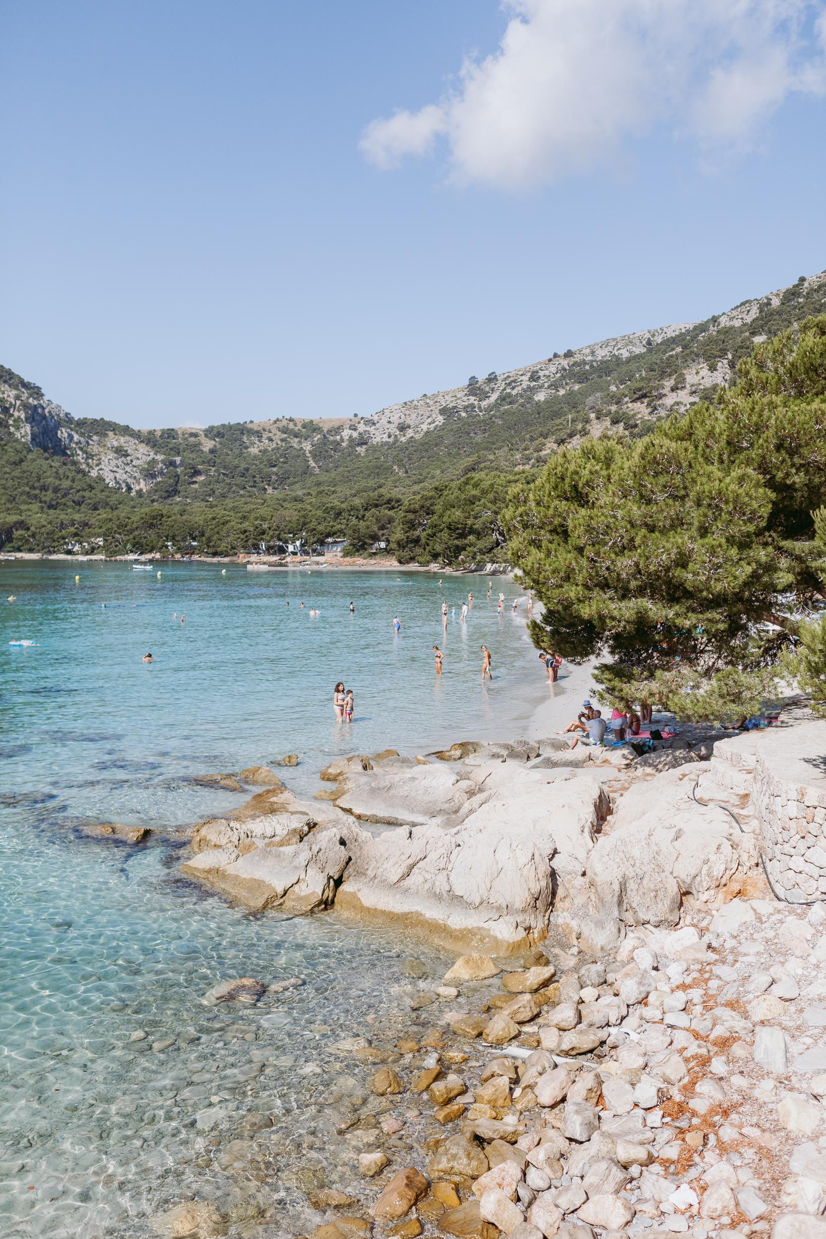 CALA FORMENTOR BEACH - Ein Ausflug in den Nordwesten Mallorcas lohnt nicht nur zum Baden im kristallklaren Wasser – sondern auch zum Picknick unter Pinien.