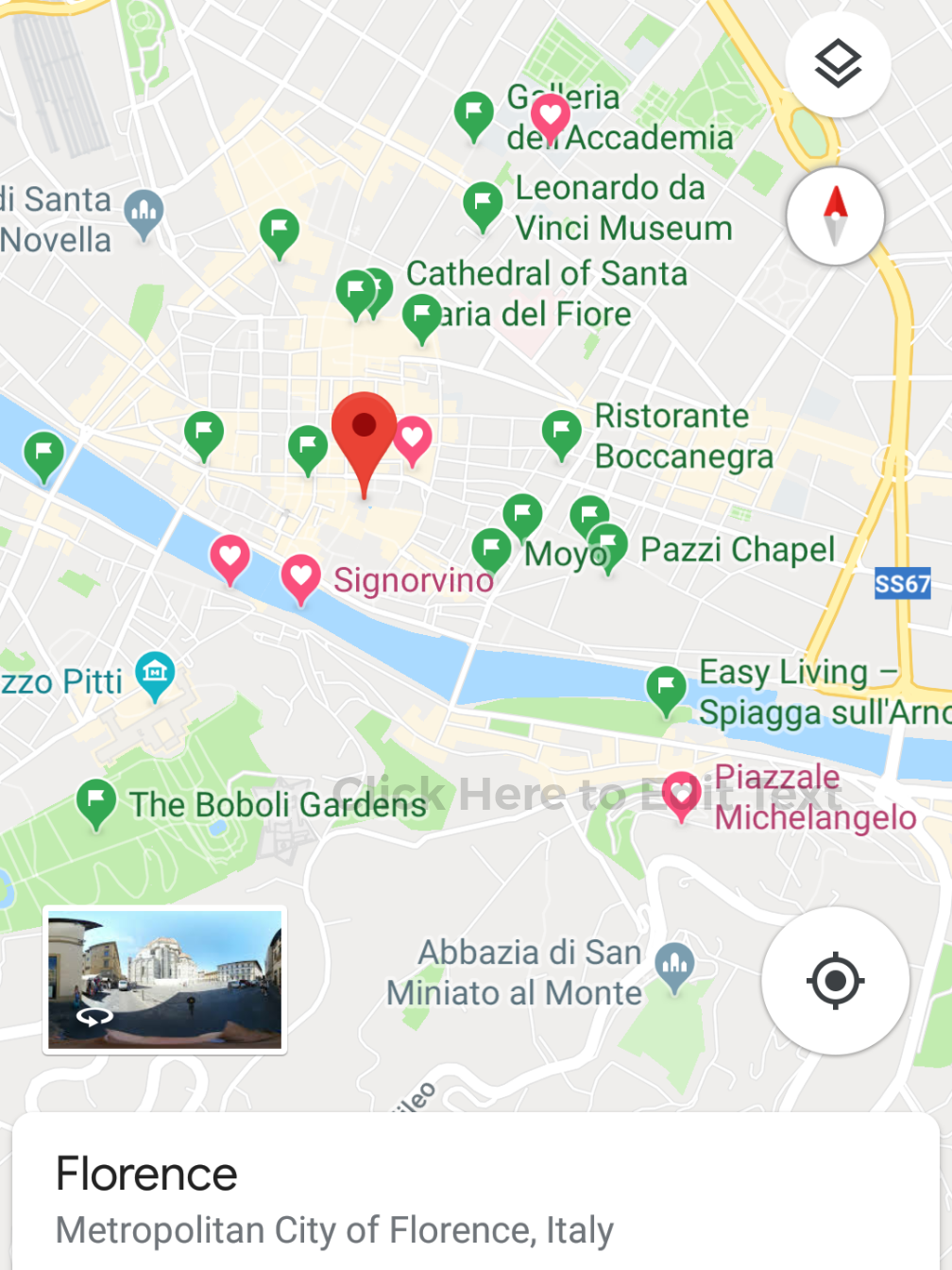 I can still access my Offline Map of  Florence !