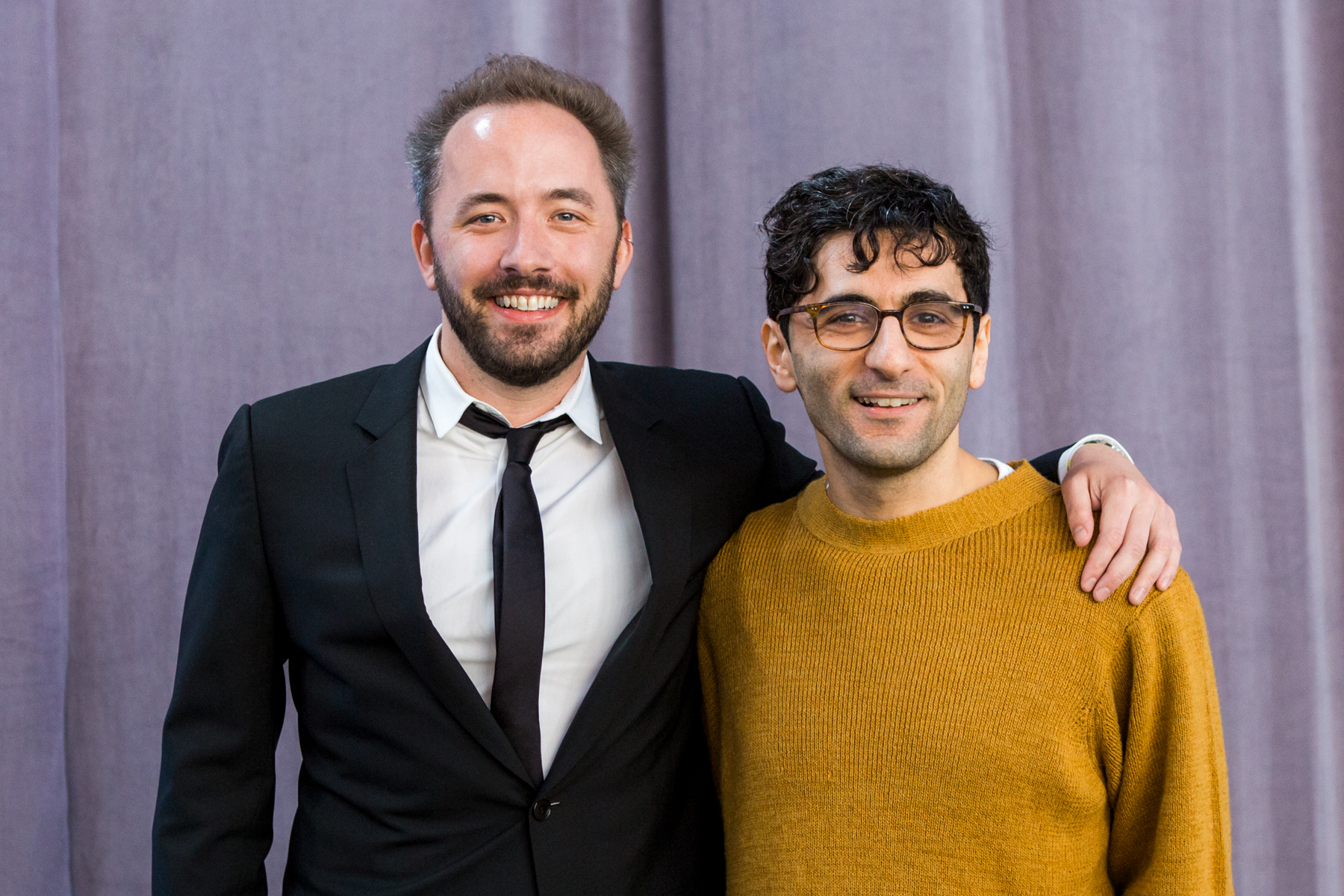 Co-founders Drew Houston (left) and Arash Ferdowsi (right). Image from the Dropbox  Press Kit