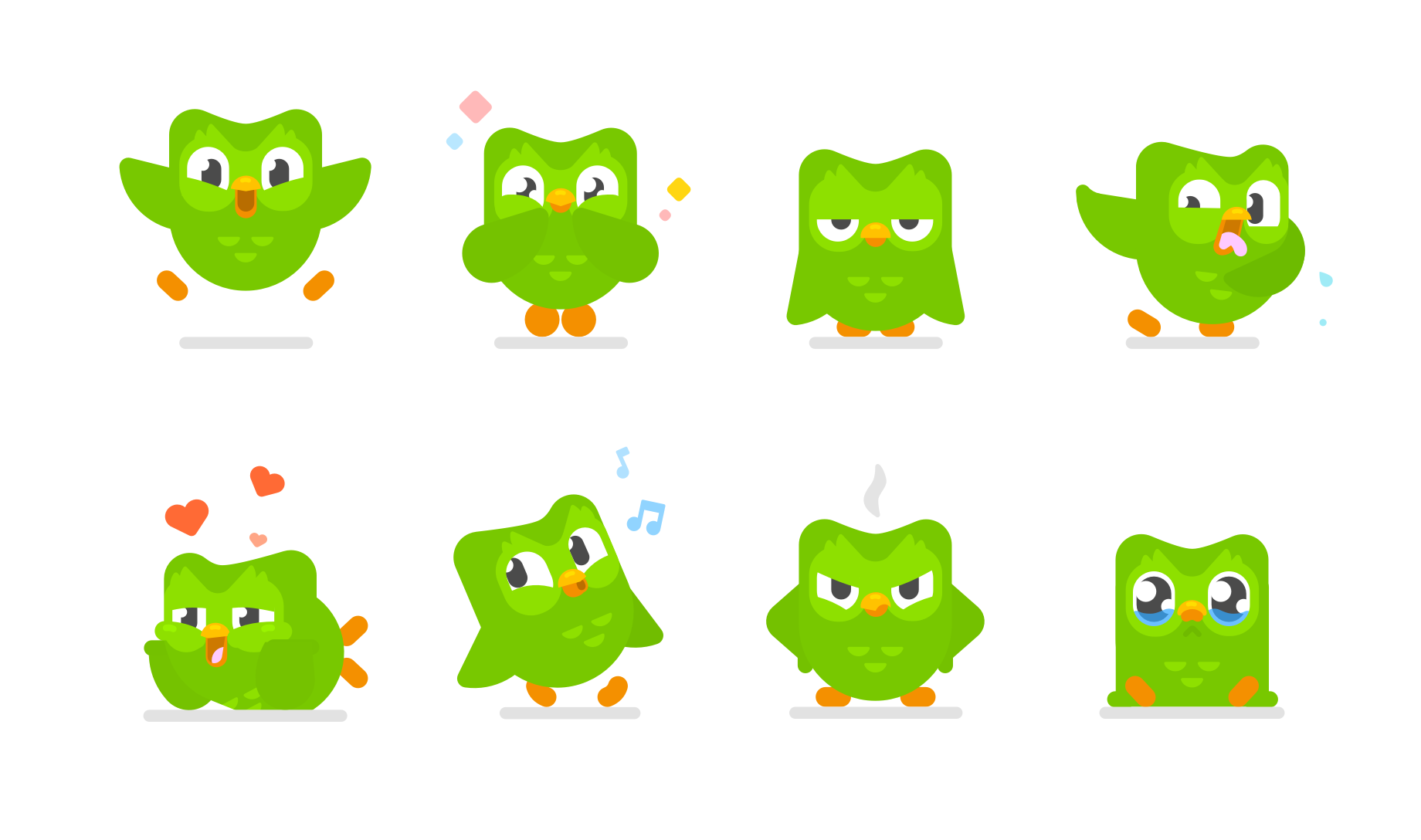 The many faces of Duo, as seen in  InVision's profile  on the character's recent redesign.