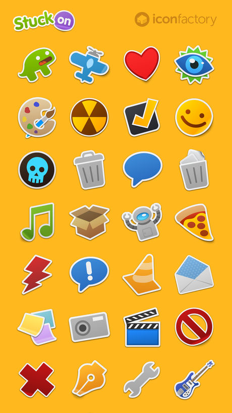 The Iconfactory's  Stuck On  sticker pack