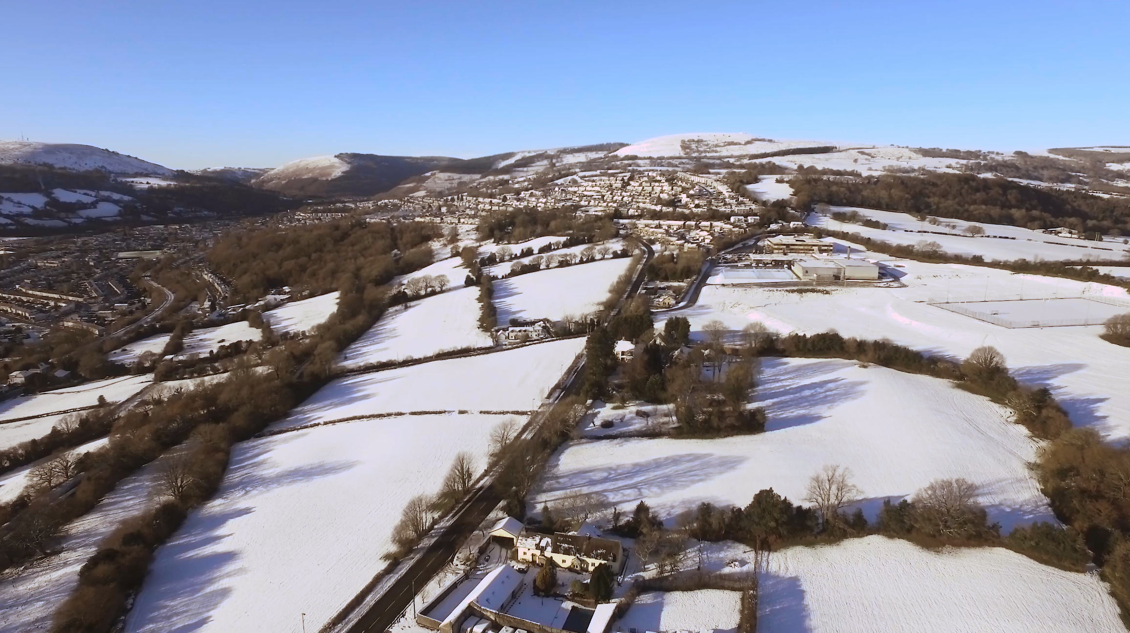 Snow Scene Risca shot by Geoff Harper - Harper Visuals
