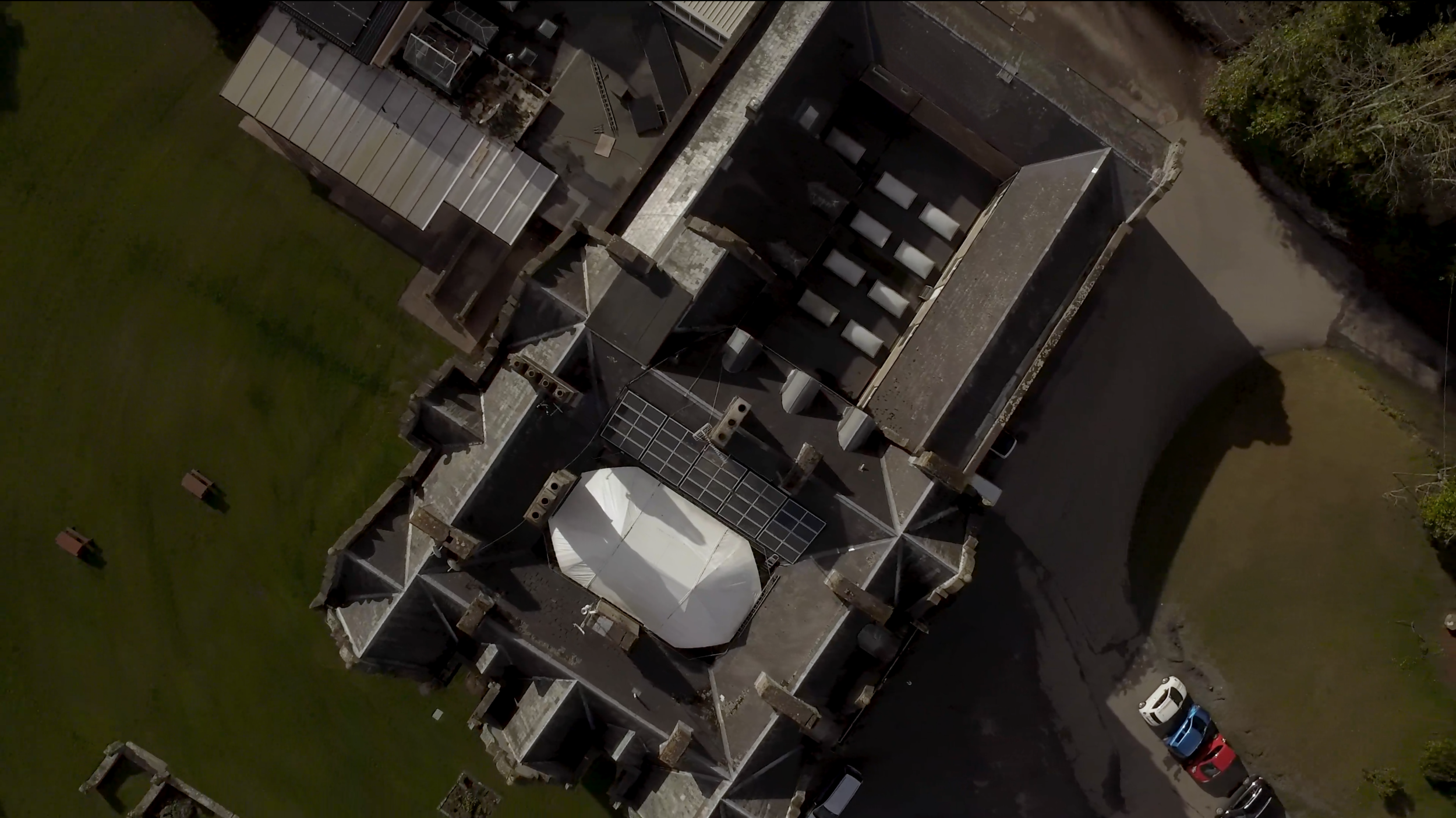 Baskerville Hall from the air - Harper Visuals - Geoff Harper