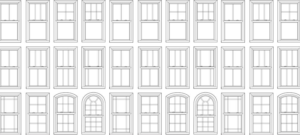 There is a lovely article all about the different styles of glazing bars and their history found here at  sashwindowrestoration s.co.uk