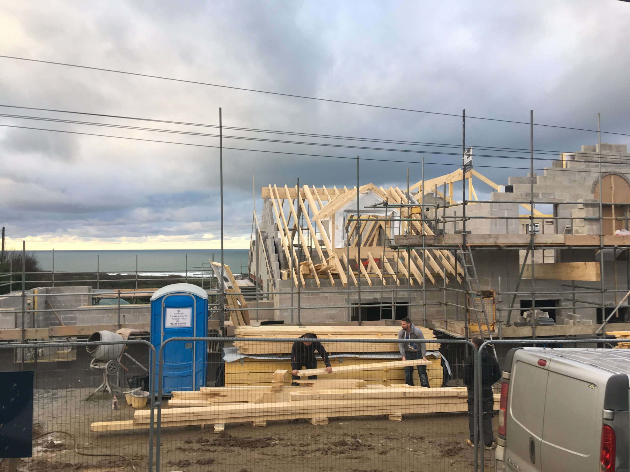 Roofing begins (March 8th 2019)