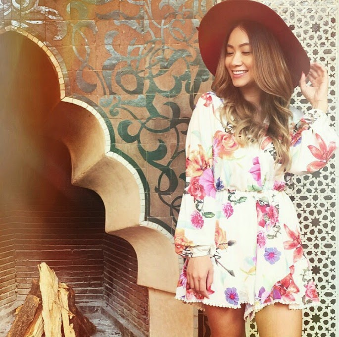 FLORAL PLAYSUIT - THE WILDFLOWER SHOP