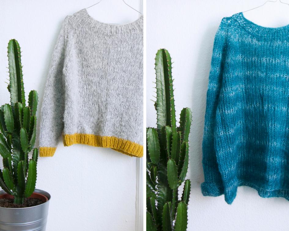 strikket kort genser