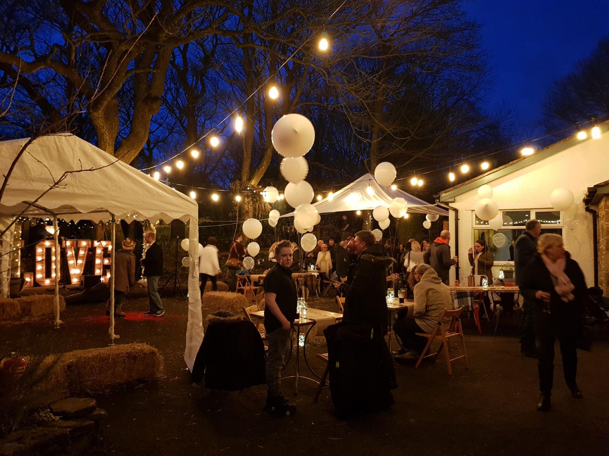 Beautiful Wedding Marquee at Spring Cottage