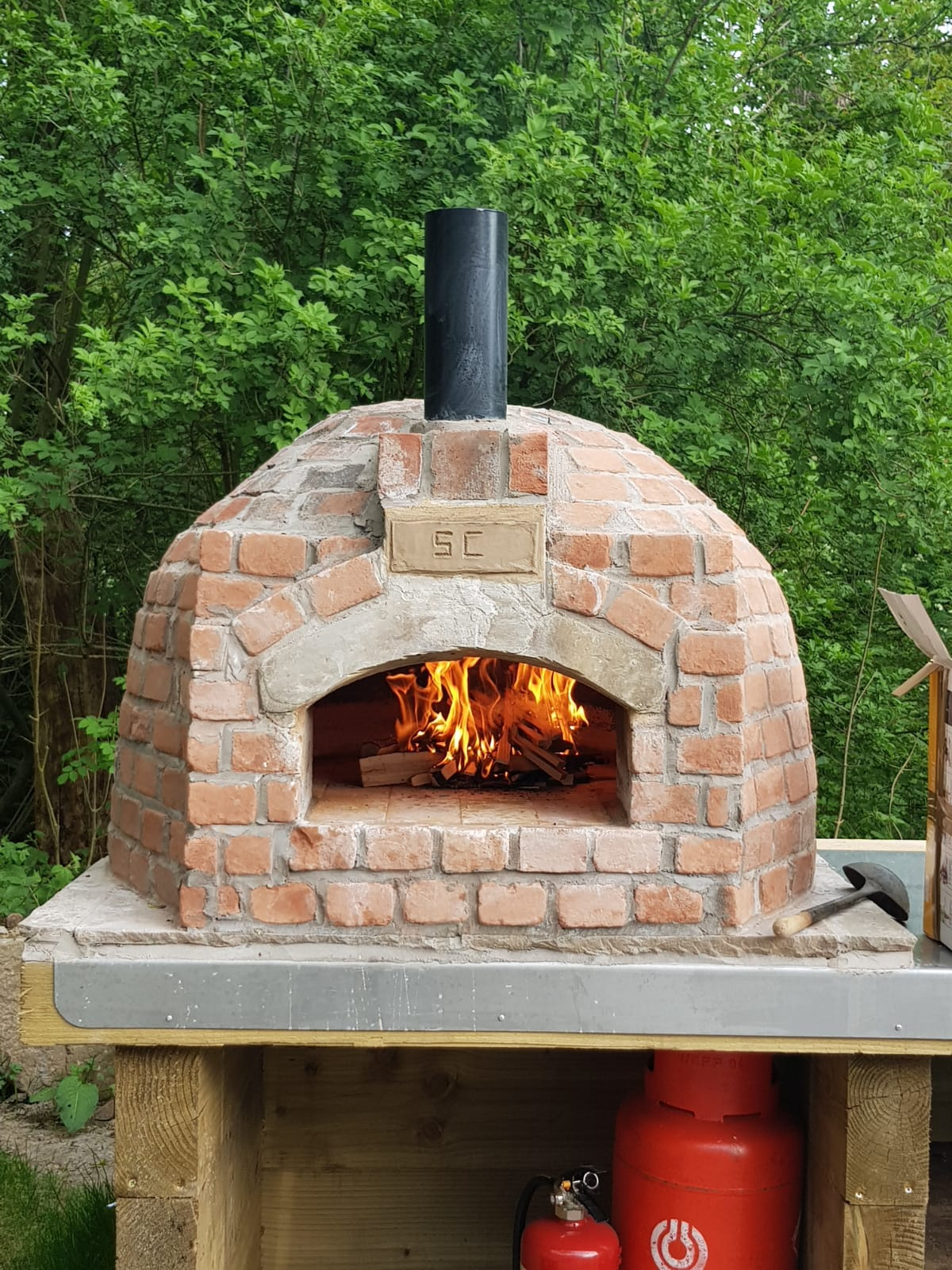 Pizza Oven at Spring Cottage Cafe