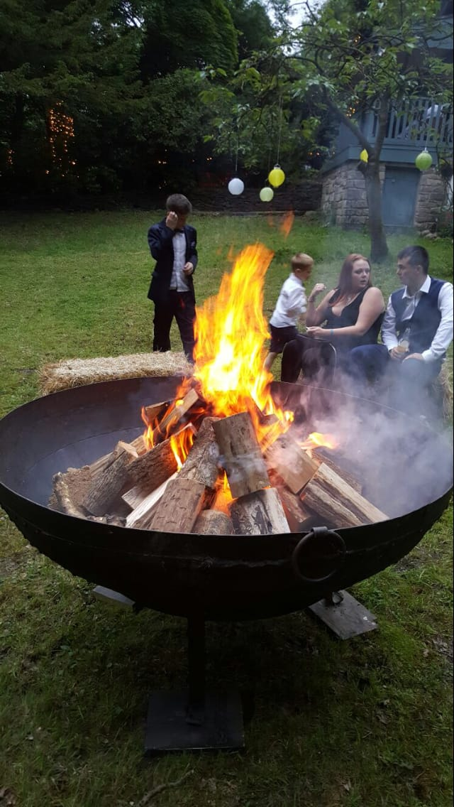 Party Fire Pit in the Lancashire Woodlands