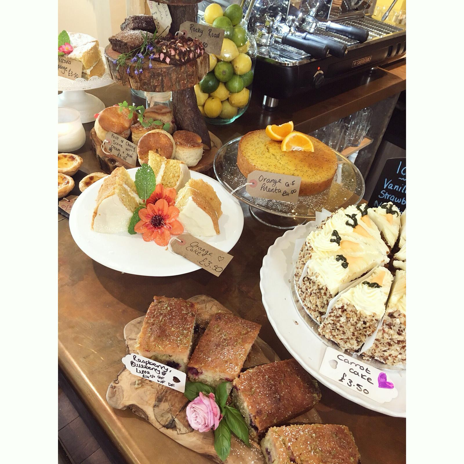 Homemade Cakes at Spring Cottage Cafe